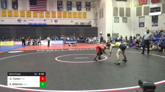 133 lbs Semifinal - Chaz Tucker, Cornell vs Austin DeSanto, Drexel