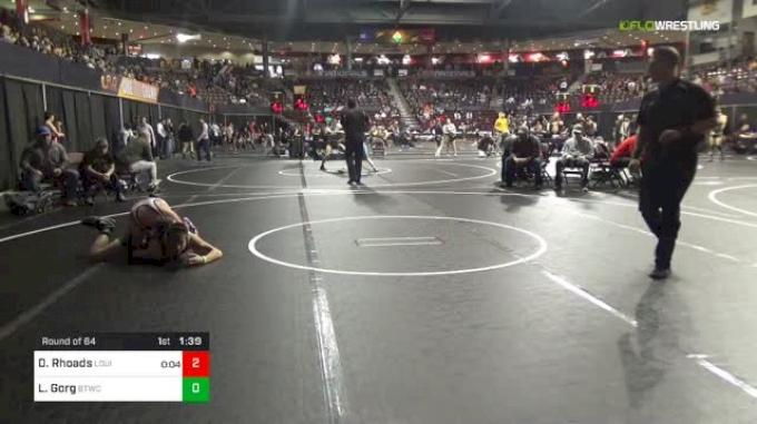 120 lbs Round Of 64 - Davin Rhoads, Louisville Wrestling Club vs Luke Gorg, BTWC