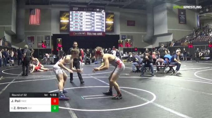 145 lbs Round Of 32 - Jacob Pail, Freedom Area vs Zane Brown, Invicta
