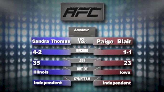 Sandra Thomas vs Paige Blair - Ascendancy FC 15 Replay