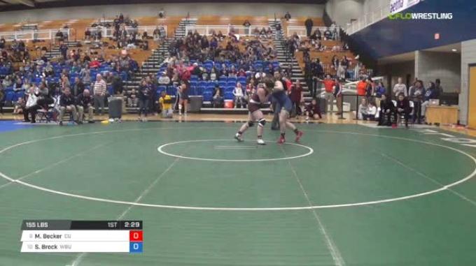 155 lbs Consi of 8 #2 - Morgan Becker, Campbellsville University W vs Skylar Brock, Wayland Baptist University W