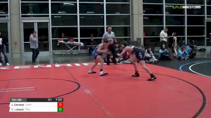 100 lbs Rr rnd 5 - Joe Cardozo, Team Texas MS vs Chris Lubeski, Triumph Maize MS