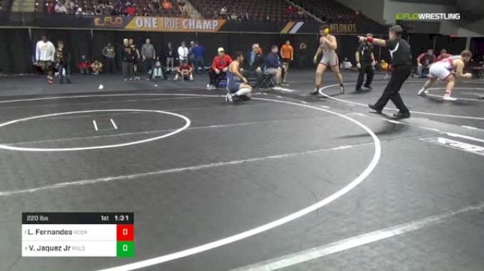 220 lbs Semifinal - Lewis Fernandes, Voorhees vs Victor Jaquez Jr, Palomino Academy
