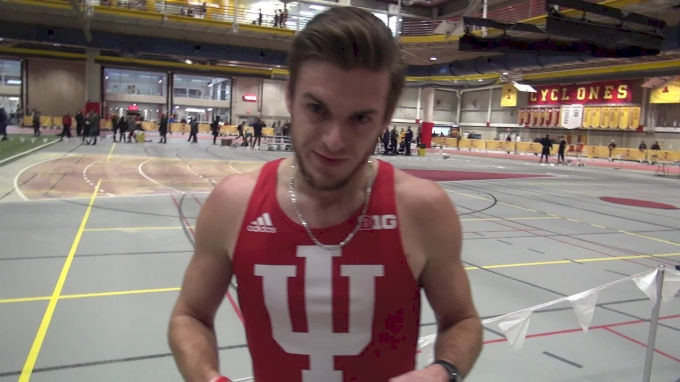 Daniel Kuhn of Indiana After Runner-Up Finish In The 800 At The Iowa State Classic