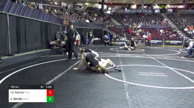 106 lbs Round Of 32 - Dustin Norris, Prodigy Wrestling Academy vs Jimmy Baxter, Quest