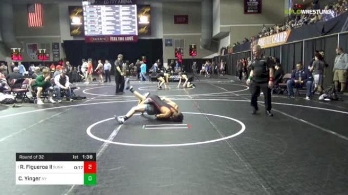 106 lbs Round Of 32 - Richard Figueroa Ll, Sunkist Kids Monster Garage vs Collin Yinger, Nelsonville-York
