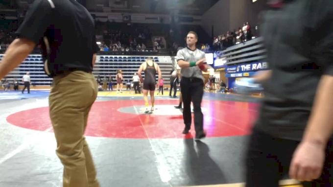 285 lbs Semifinal - Tanner Hall, Arizona State vs Denzel Dejournette, App St