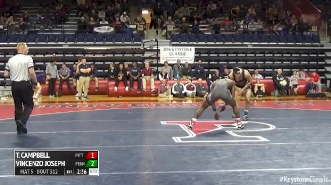 165 Finals - Te'Shan Campbell, Pitt vs Vincenzo Joseph, Penn State