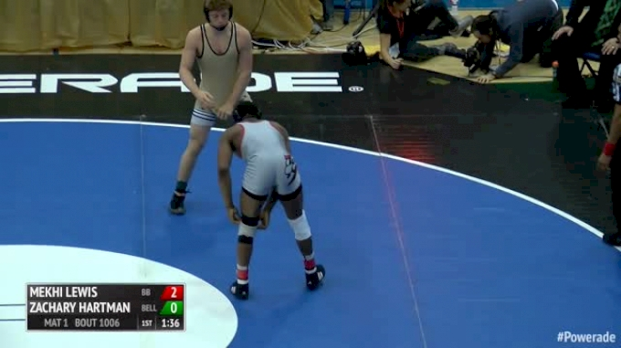 160 Finals - Mekhi Lewis, Bound Brook - NJ vs Zachary Hartman, Belle Vernon