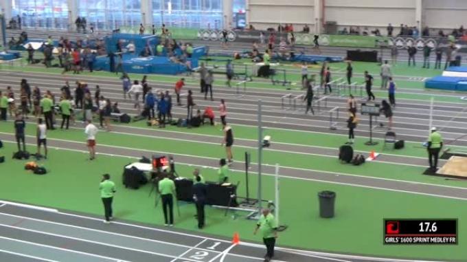 Girl's Sprint Medley Relay Freshmen, Round 1 Heat 3 (Part 1)