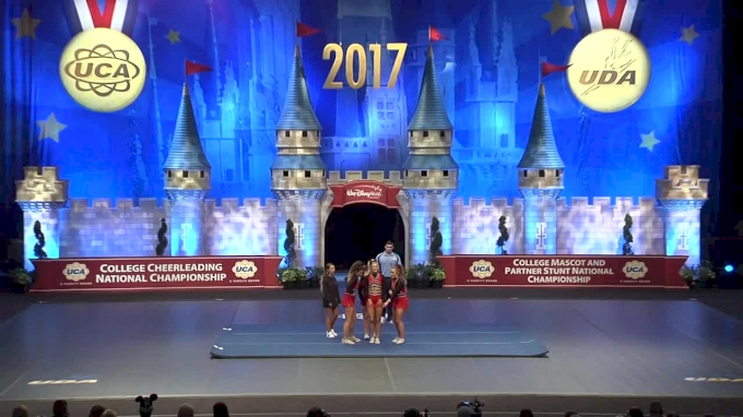 "University of Louisville - Amanda Lawonn, Hayley Stevens, Anjelica Cirone & Caitlyn Stovall [2017 Girls ""4"" Partner Stunt]"