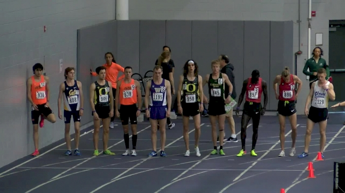 Men's Mile, Heat 6 - Jager and Lomong battle collegians