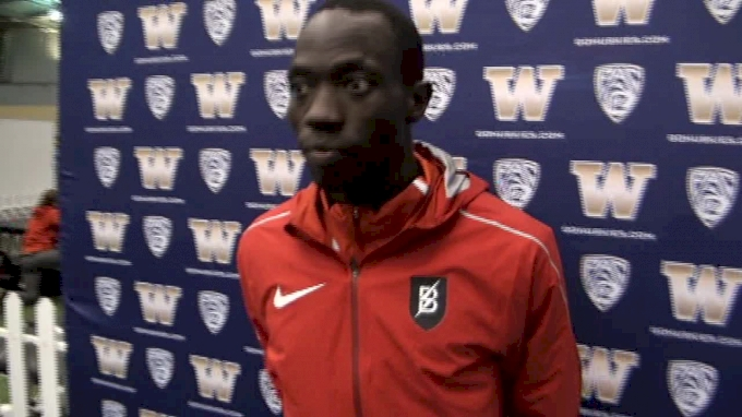 Lopez Lomong after 30 minute Mile and 800m double