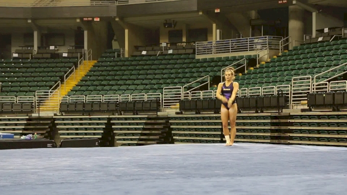 Ashleigh Gnat Soars On Double Layout, LSU - 2017 GymQuarters Podium Training