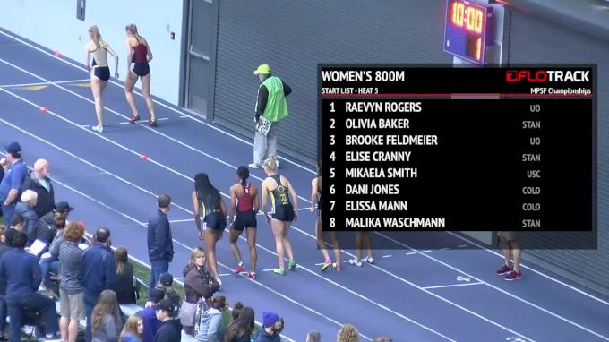 Women's 800m, Heat 5 - Olivia Baker punches NCAA ticket