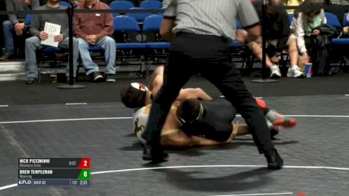 125 Semi-Finals - Nick Piccininni, Oklahoma State vs Drew Templeman, Wyoming