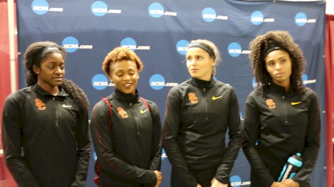 USC Women's 4x4 set collegiate record