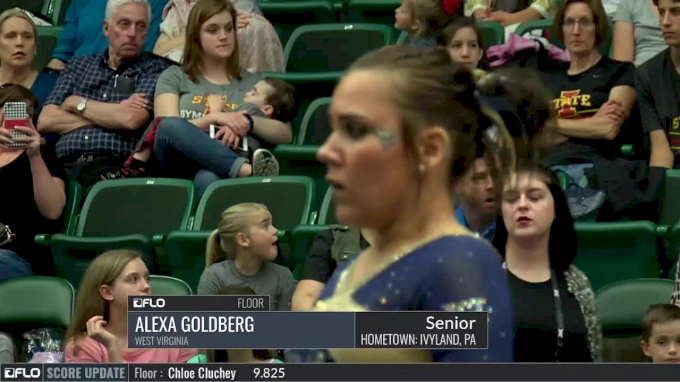 alexa goldberg floor west virginia 2017 big 12 championship