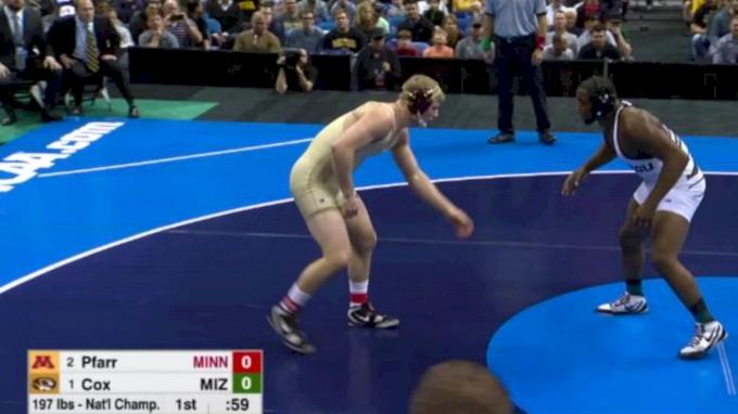 197 Final, J'Den Cox (Missouri) vs. Brett Pfarr (Minnesota)