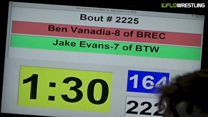 164 lbs Final - Ben Vanadia, BREC vs Jake Evans, BTW