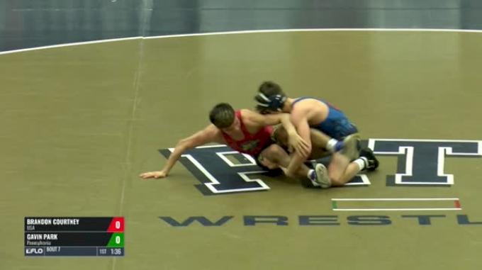 120 Finals - Brandon Courtney, USA vs Gavin Park, Pennsylvania