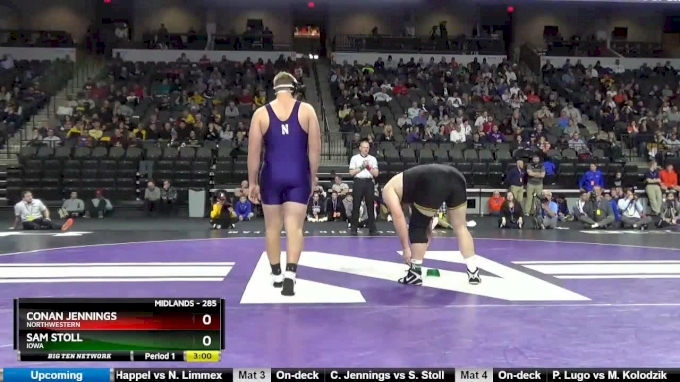 285 lbs, Semifinal, Conan Jennings, Northwestern vs Sam Stoll, Iowa