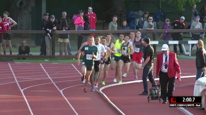 Collision in 1500m at Stanford