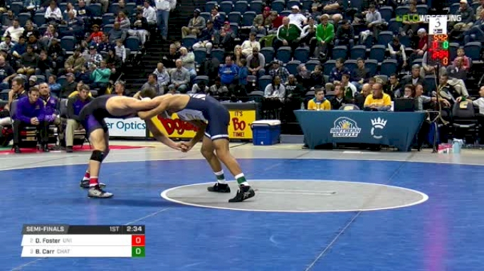 184 lbs Semifinal - Drew Foster, Northern Iowa vs Bryce Carr, Chattanooga