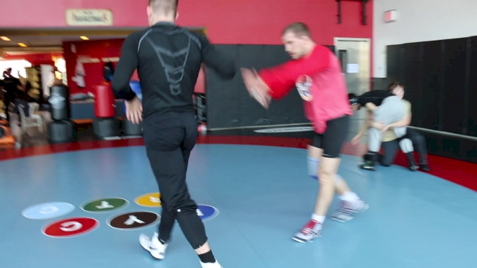 Logan Stieber And Chris Perry Sparring