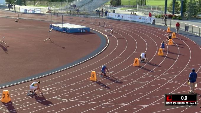 Men's 400m Hurdles, Heat 3