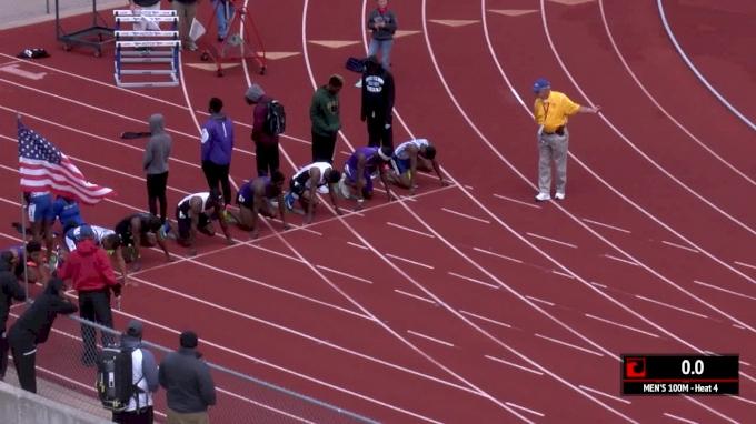 Men's 100m, Heat 4