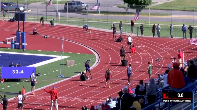 Men's 4x400m Relay, Heat 3 - Hinds CC Goes 3:06