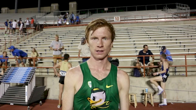 Oregon's RS frosh Tanner Anderson third in 10k