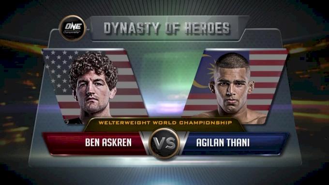 Ben Askren vs Agilan Thani - ONE: Dynasty Of Heroes Full Fight Replay