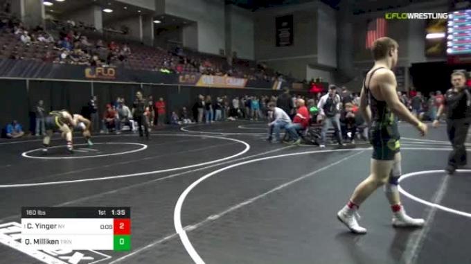 160 lbs Round Of 16 - Colt Yinger, Nelsonville-York vs Quentin Milliken, Trinity