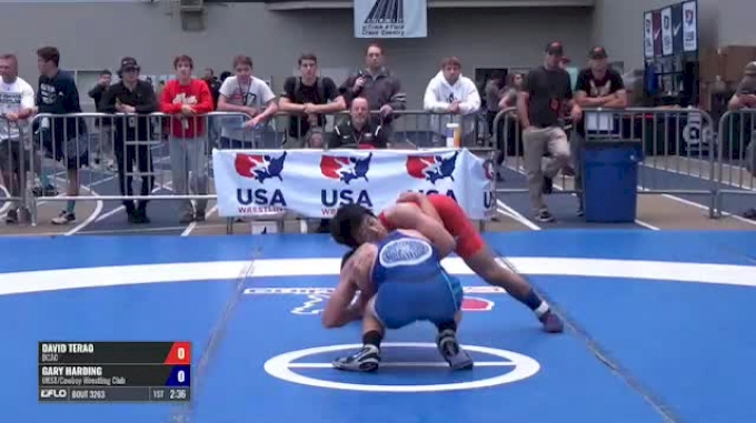 57 Semi-Finals - David Terao, DCAC vs Gary Harding, OKST/Cowboy Wrestling Club