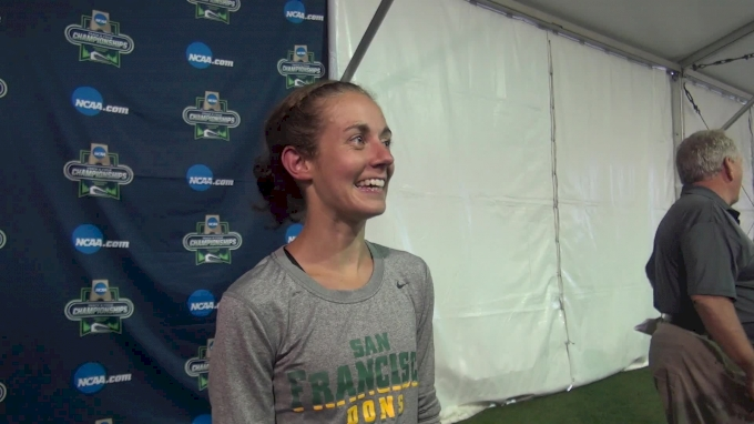 Charlotte Taylor after winning the first ever NCAA track title for a USF athlete
