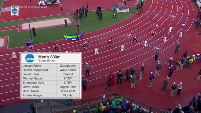 Men's 800m, Final - UTEP's Emmanuel Korir wins, trips up teammate