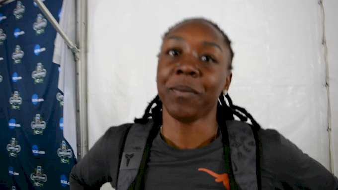 Teahna Daniels after third-place finish in 100m