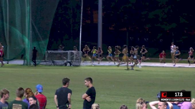 Women's 1500m Elite, Heat 1 - Gabe Grunewald runs 1500 race days after chemo treatment