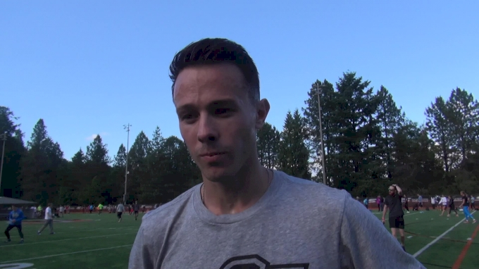 Josh Thompson after monster steeplechase personal best