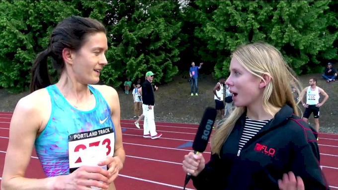 Kate Grace says that she is running the 1500 at USAs