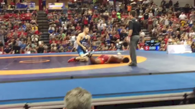 Furious Cael Sanderson Throws Cube, Towel And Chair And Is Ejected From World Team Trials