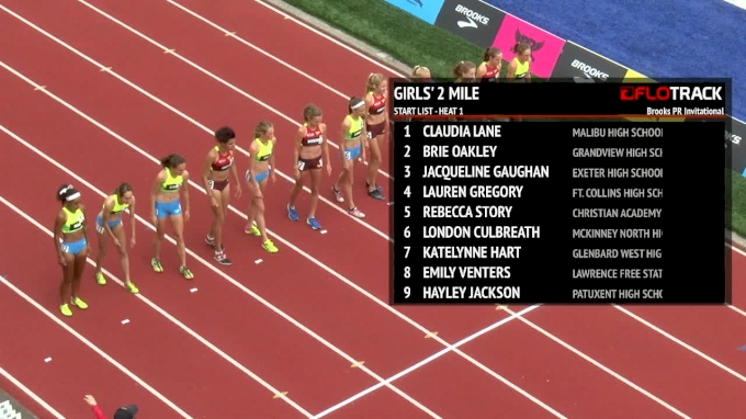 Brooks PR Girls 2 Mile - Brie Oakley Runs National Outdoor Record!