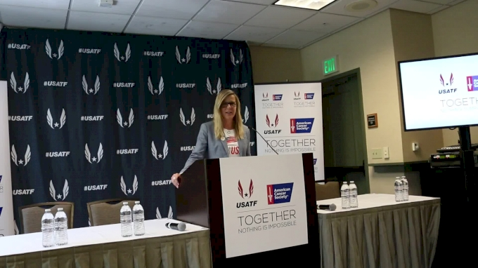 USATF's Jill Geer announces partnership with American Cancer Society
