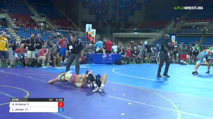 145 Qtrs - Anthony Artalona, Florida vs Logan Jensen, Utah
