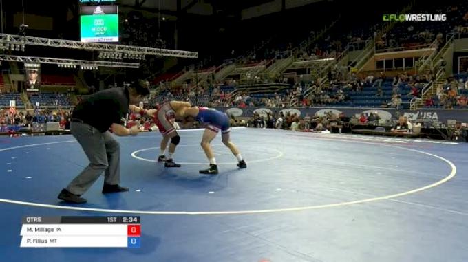 138 Qtrs - Michael Millage, Iowa vs Parker Filius, Montana