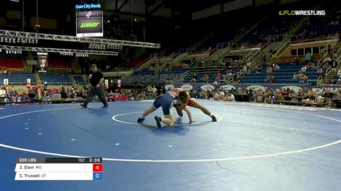 220 Qtrs - Zach Elam, Missouri vs Chase Trussell, Utah