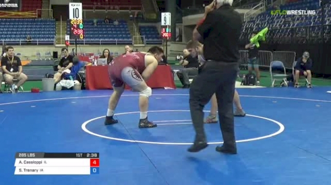 285 Qtrs - Anthony Cassioppi, Illinois vs Spencer Trenary, Iowa