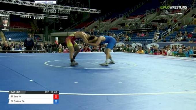 145 Con Semi - Brayton Lee, Indiana vs Sam Sasso, Pennsylvania
